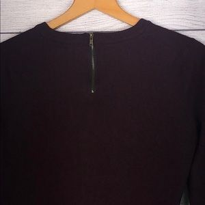 Forever 21 Sweaters - F21 - Deep Marrom Sweater w/ Zipper Detail - Small